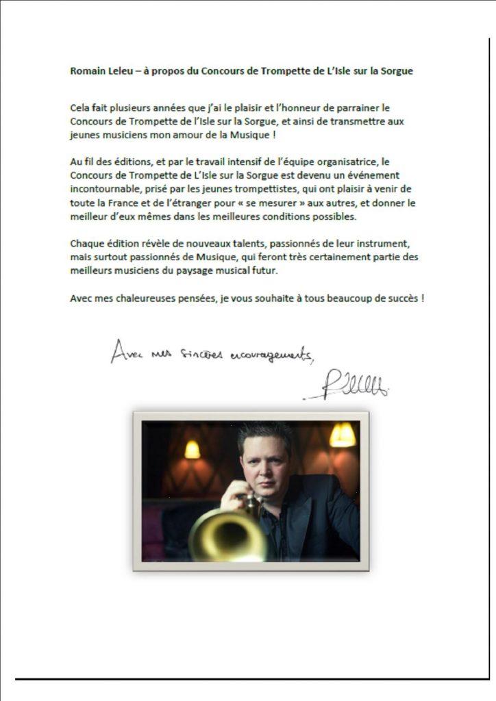 Concours de trompette de L'Isle sur la Sorgue